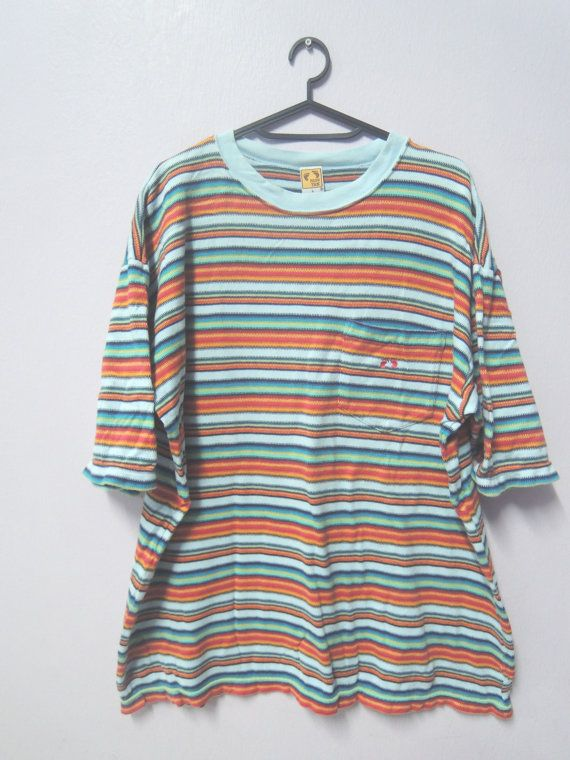 Vintage HANG TEN Sweatshirt Small Feet Logo Hang Ten Yellow Color Sweater Medium Size Jumper Ti0k1fsc5
