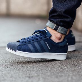 adidas superstar slip on dark blue