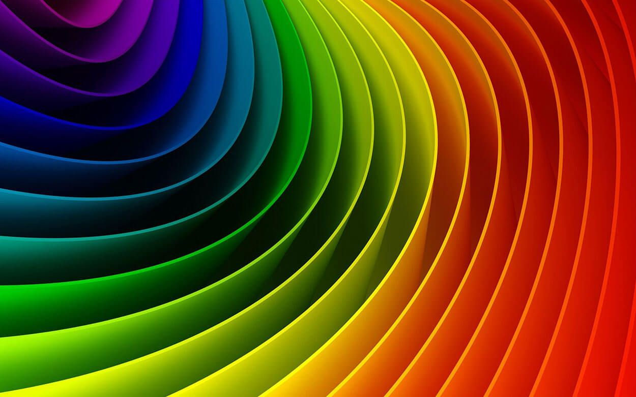 Do you know about colour therapy colorful wallpaper