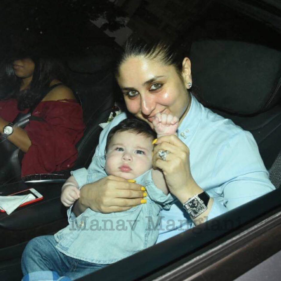 Manav Manglani Shared A Photo On Instagram Super Cute Taimur Ali Khan And Momma Kareena Kapoor Snapped As T Kareena Kapoor Khan Kareena Kapoor Celebrity Kids