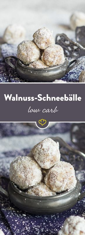 Süße Low-Carb-Walnuss-Schneebälle