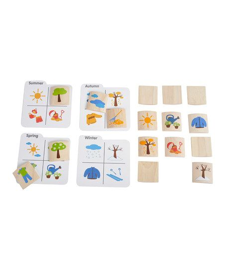 Season Matching Game- remember a matching game like this as a kid.  Would make a good season activity tray.