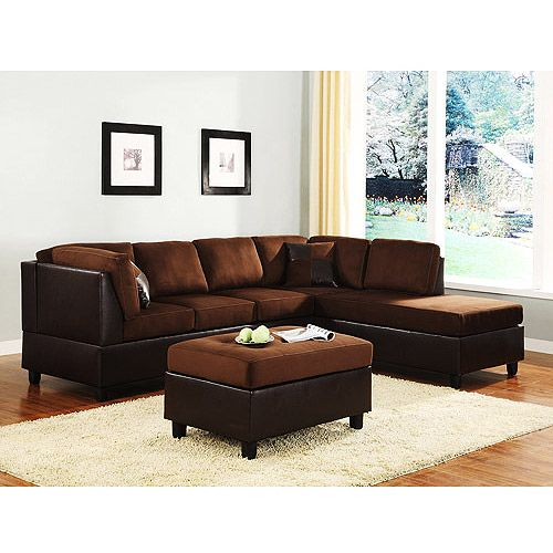 Cool Rhino Microfiber And Faux Leather Sectional Sofa Dark Ocoug Best Dining Table And Chair Ideas Images Ocougorg
