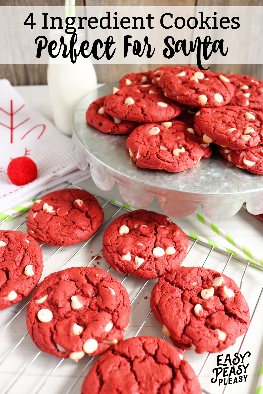 4 Ingredient Red Velvet Cake Mix Cookies Best christmas