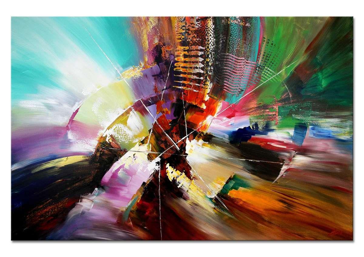 kunstler dieu seelentanzer farbkraftiges original gemalde moderne wandbilder handgemalt abstrakt bild acryl