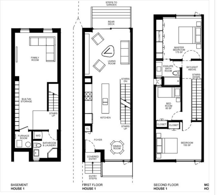 Architektur Haus Design, Schmales Haus, Zeitgenössische Häuser, Rhodos,  Kleine Häuser, Grundrisse, Toronto, Hauspläne, Für Zu Hause