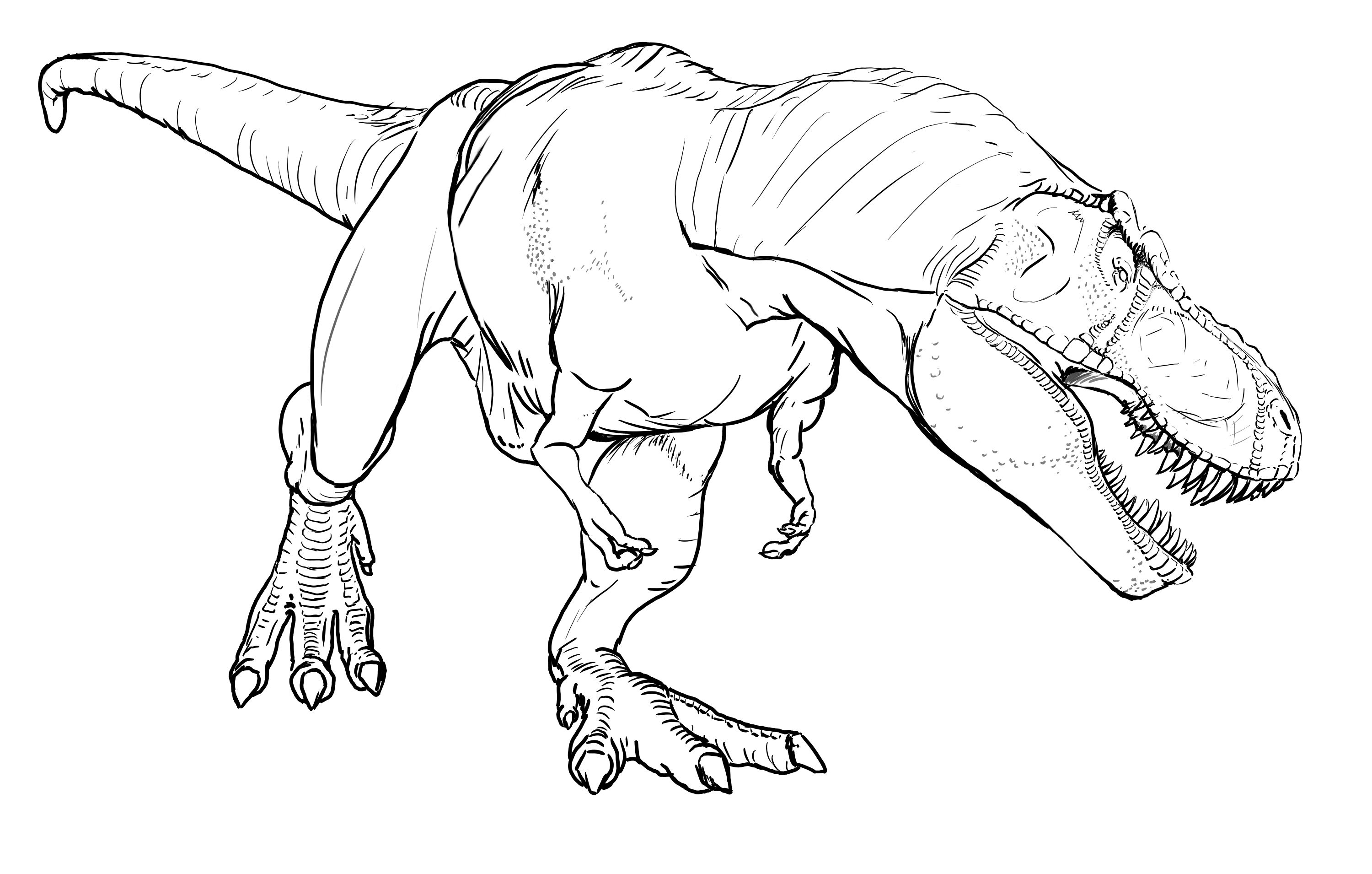 Real looking dinosaur coloring pages - Free T Rex Coloring Pages Rex Coloring
