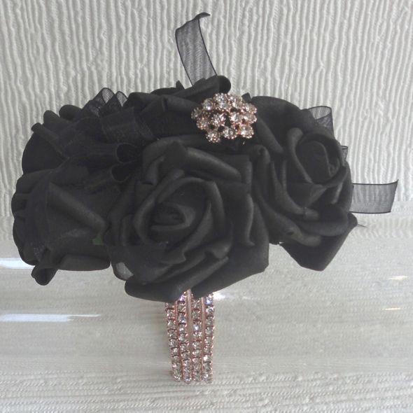 Rose Gold Black Wrist Corsage Prom 2017 Pinterest Wrist