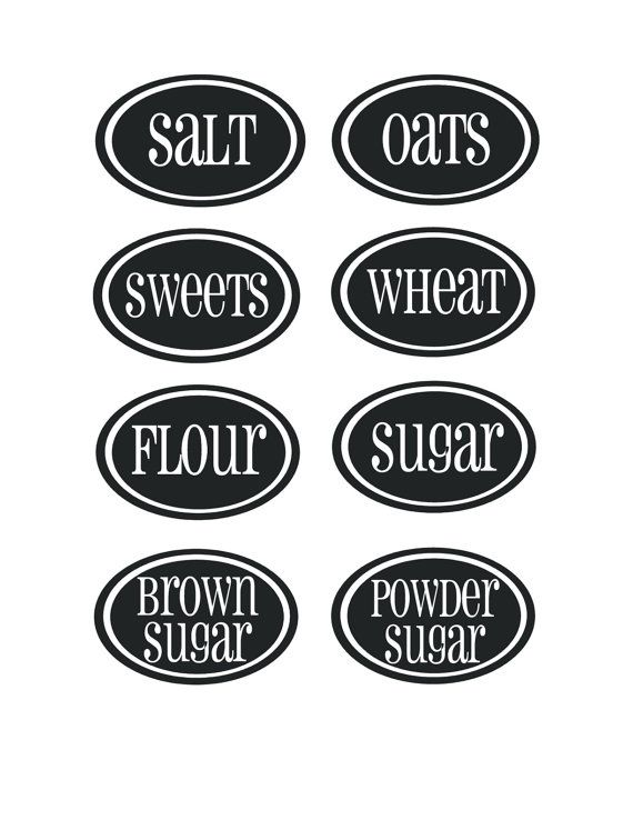 kitchen labels i m going to print these on label paper and stick