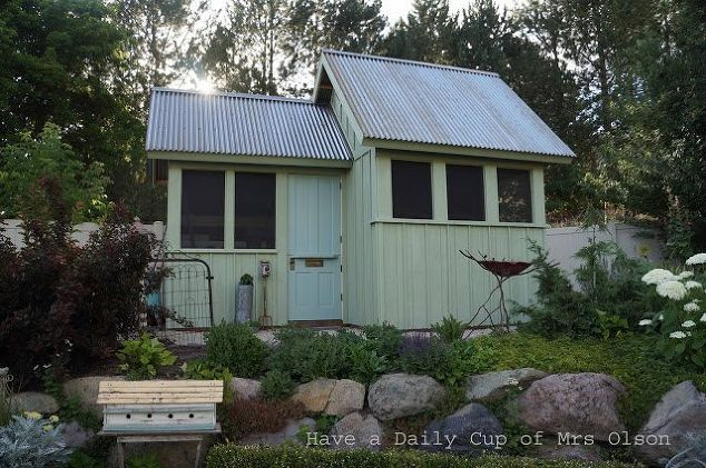 building my she shed, gardening, landscape, outdoor living, woodworking projects