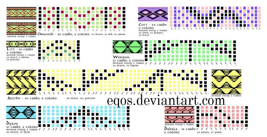 Shemy Dlya Tkachestva Na Doshechkah Tablet Weaving Patterns Tablet
