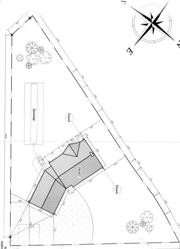 implantation maison sur terrain triangulaire - Implantation Maison Sur Terrain En Pente