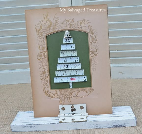 My Salvaged Treasures: Christmas and New Year Tape Measure Trees