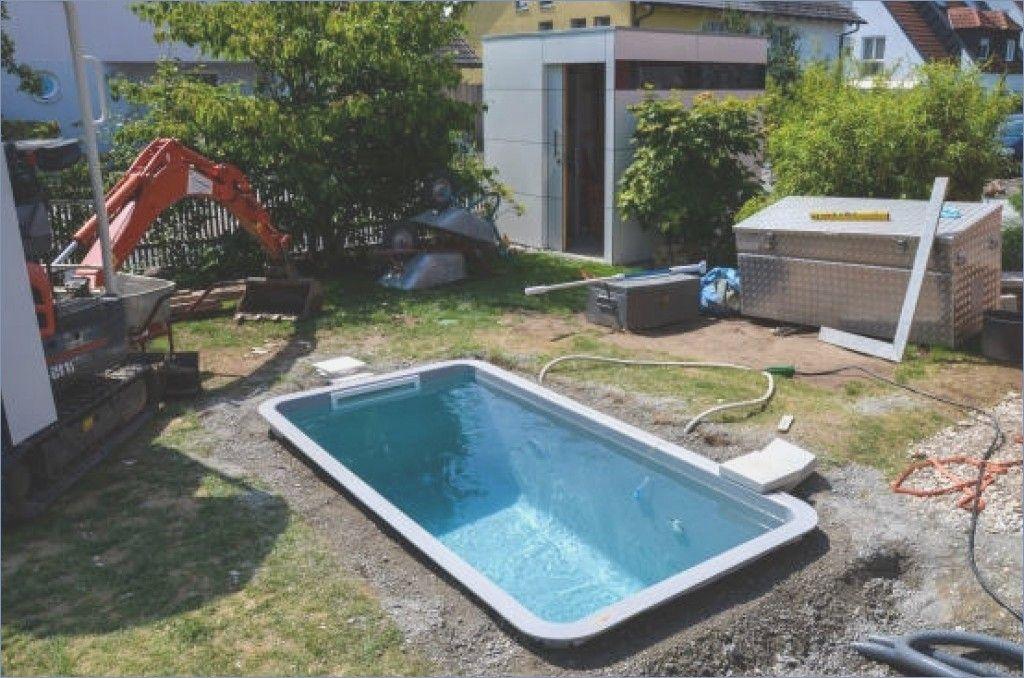 Pool In The Small Garden Self Build Build Garden Small Small