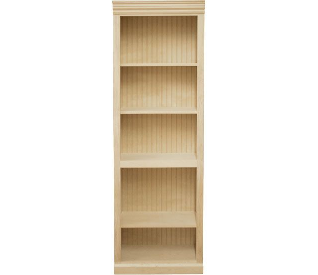24 X 72 Maple Bookcase This Maple Bookcase Features 3 Adjustable Shelves And 1 Fixed Shelf Our Bookcases Adjustable Shelving Shelves Contemporary Bookcase