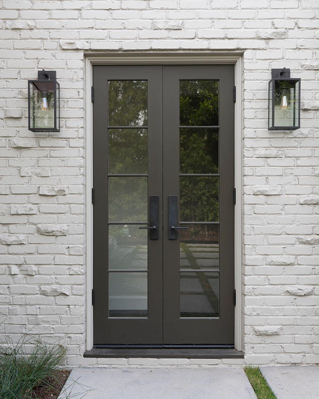 Stunning narrow exterior french doors images decoration for Narrow exterior french doors