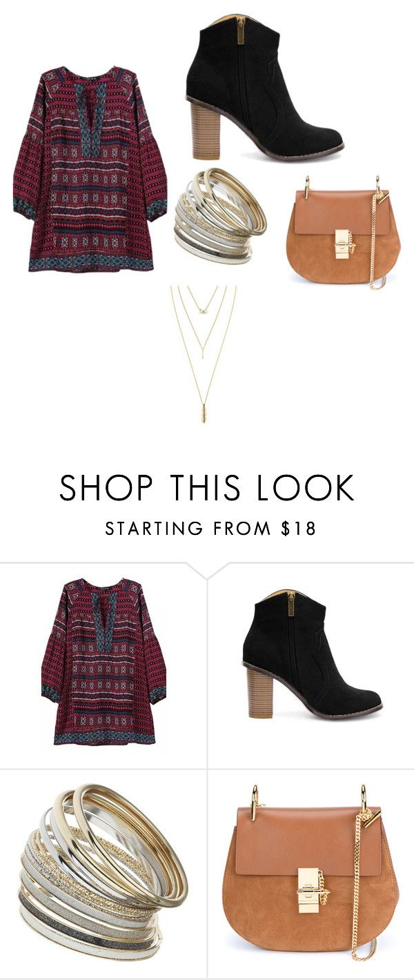 """""""Untitled #26"""" by blxckout ❤ liked on Polyvore featuring Miss Selfridge, Chloé and Jules Smith"""