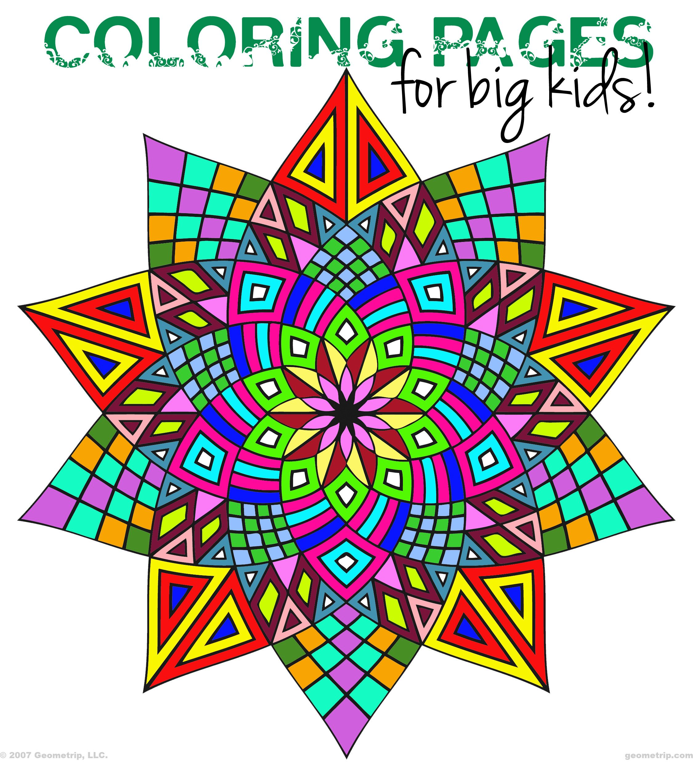 Geometry coloring worksheets - Geometric Coloring Pages