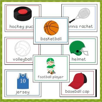 Sports Vocabulary Cards For Preschool And Kindergarten Vocabulary Cards Preschool Creative Curriculum