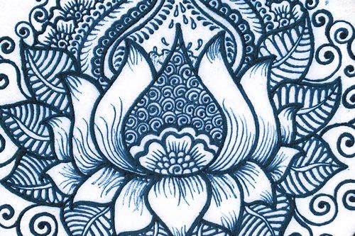 Lotus Zentangle Pattern Google Search Zentangles And Doodles In
