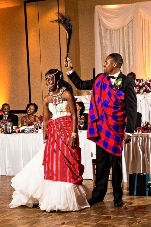 Maasai Wedding Tanzania FYI Kenyan Maasais Have Red As Their - Maasai tribe wild animals attend wedding kenya