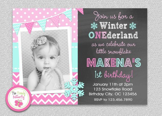 Winter Wonderland Birthday Invitation By Thetrendybutterfly