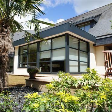 Extension du0027une habitation avec un toit plat Extension maison