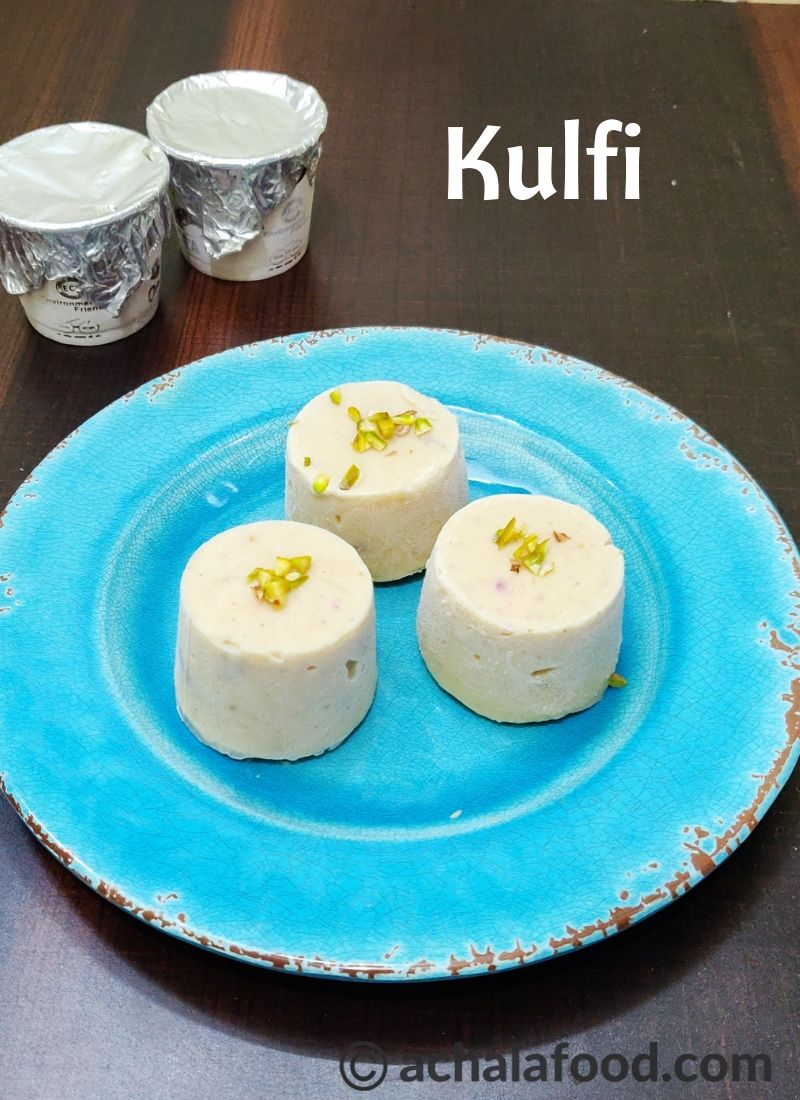 Kulfi Recipe How To Make Kulfi At Home Kulfi Without Condensed Milk Recipe Kulfi Recipe Indian Dessert Recipes Sweet Recipes