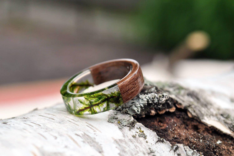 Natural Wedding Ring Minimalist Wood Ring Engagement Wood