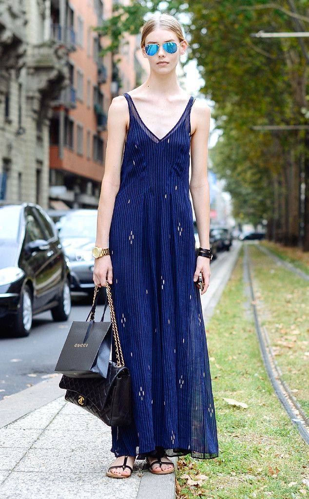 Alia from Street Style: Maxi Dresses  In Isabel Marant