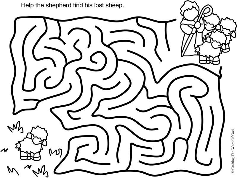 The Lost Sheep Puzzle Activity Sheet With Images Kids Sunday