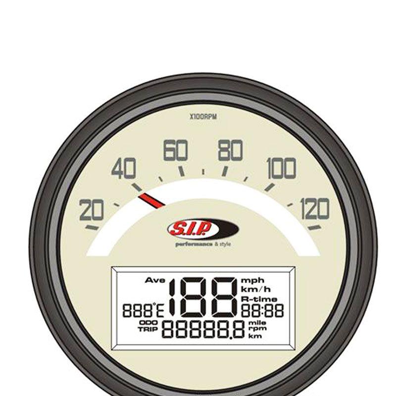 SIP #contagiri; il nuovo strumento da sogno per la tua #Lambretta 1° e 2° serie - sfondo nero. Contagiri, #tachimetro e #temperatura testa tutto in uno, in ottica originale!!! Stf Verona.