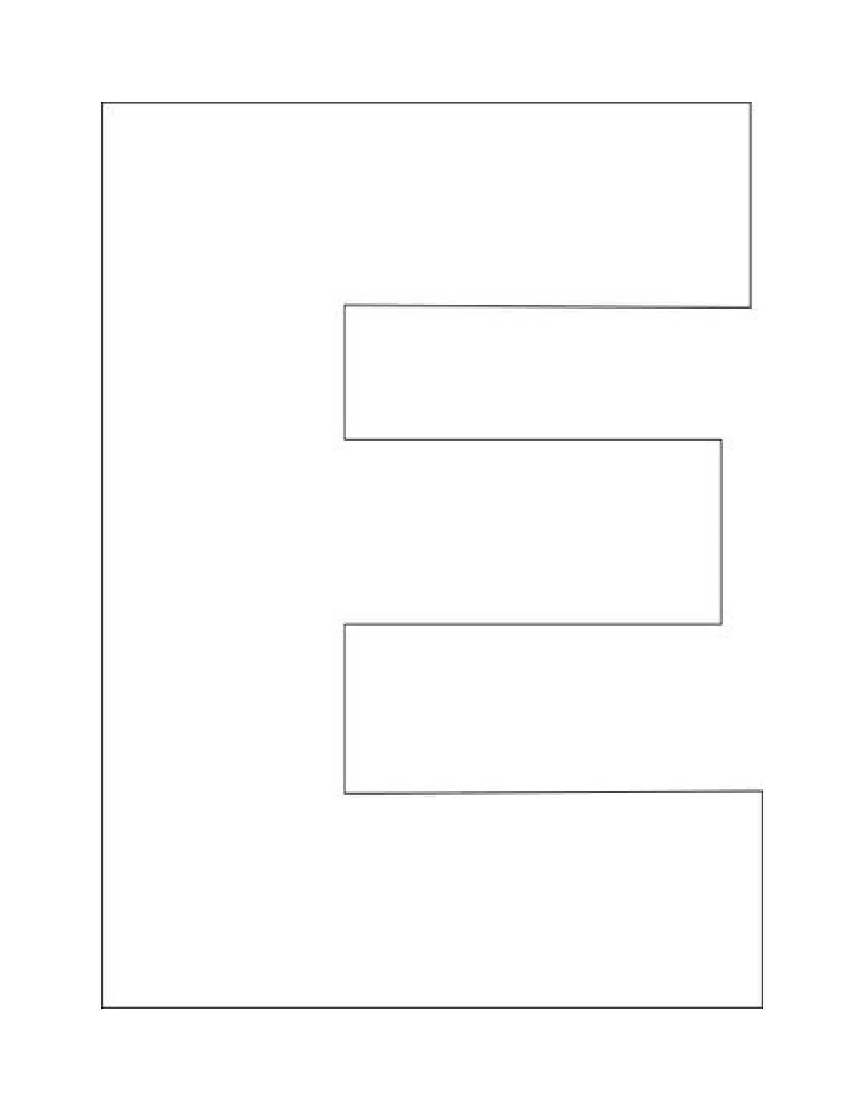 Letter E Worksheets For Toddlers Alphabet Letter E