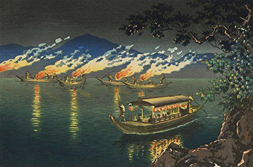 "Japanese Art Print ""Nagaragawa Cormorant Fishing"" by Tsuchiya Koitsu. Shin Hanga and Art Reproductions http://www.amazon.com/dp/B00VDFND4G/ref=cm_sw_r_pi_dp_4g9twb189QD0C"