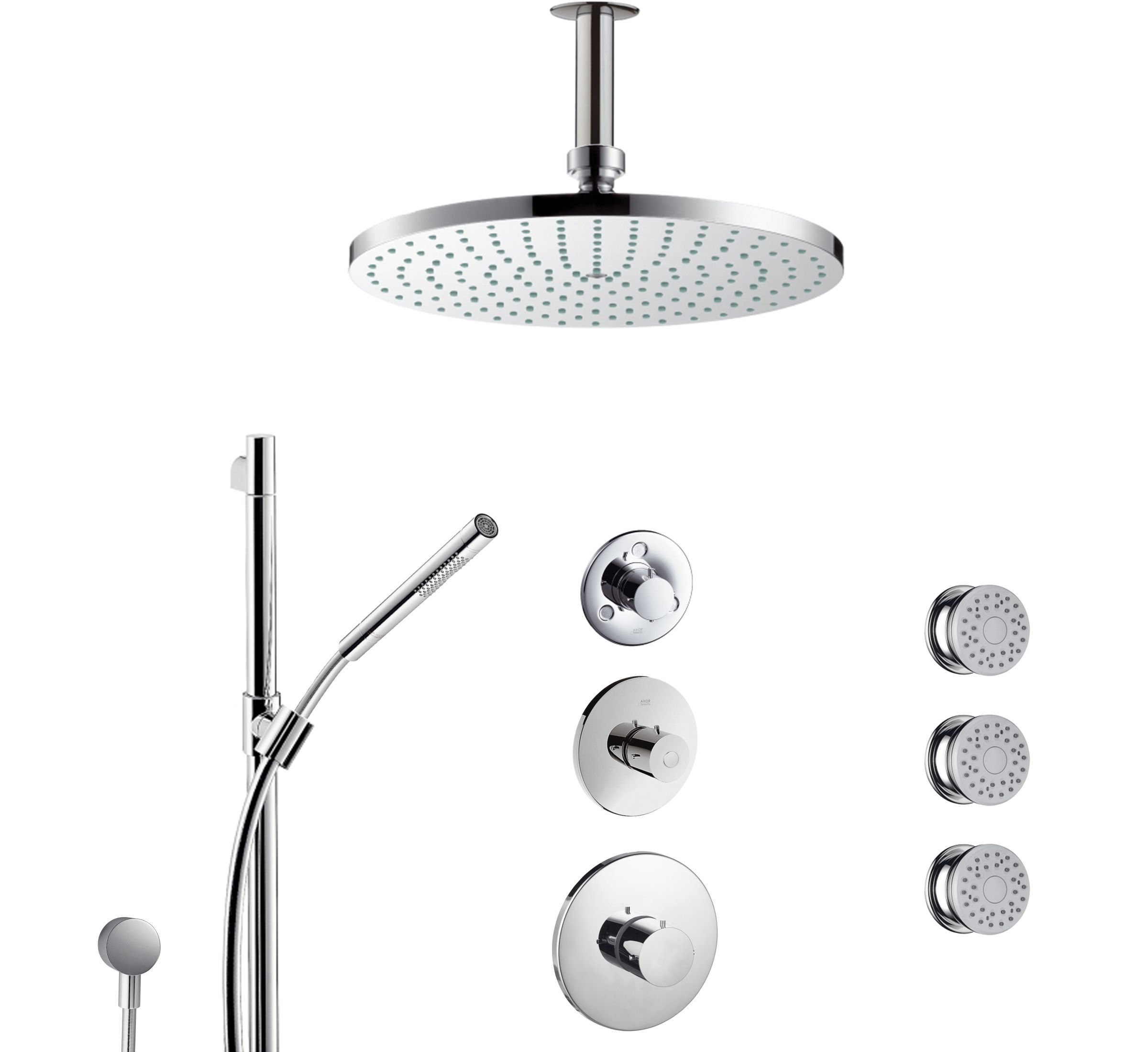 Hansgrohe Axor Starck Thermostatic Shower Set With Showerhead