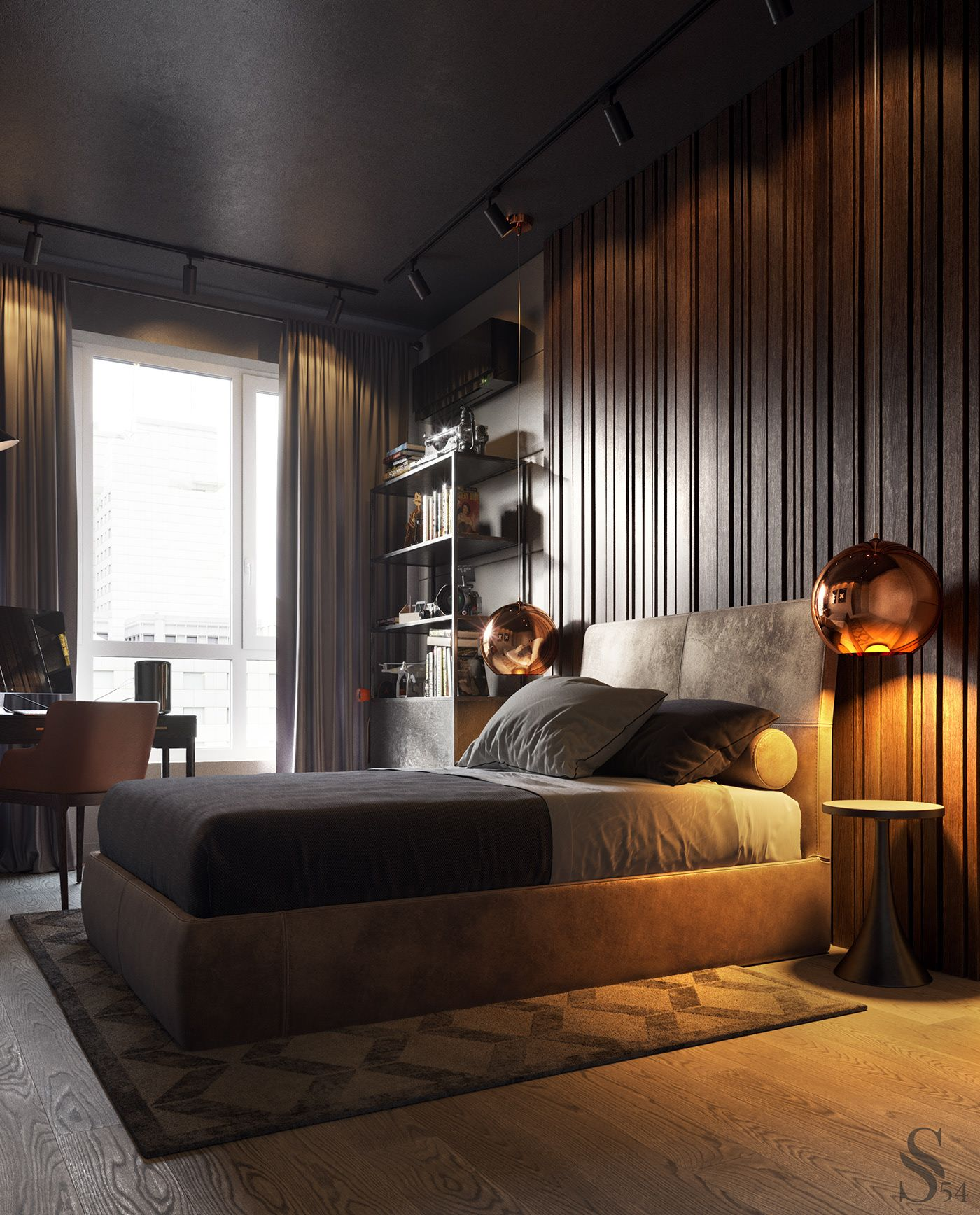 Bedroom In Contemporary Style On Behance: APARTMENT IN MOSCOW On Behance (With Images)