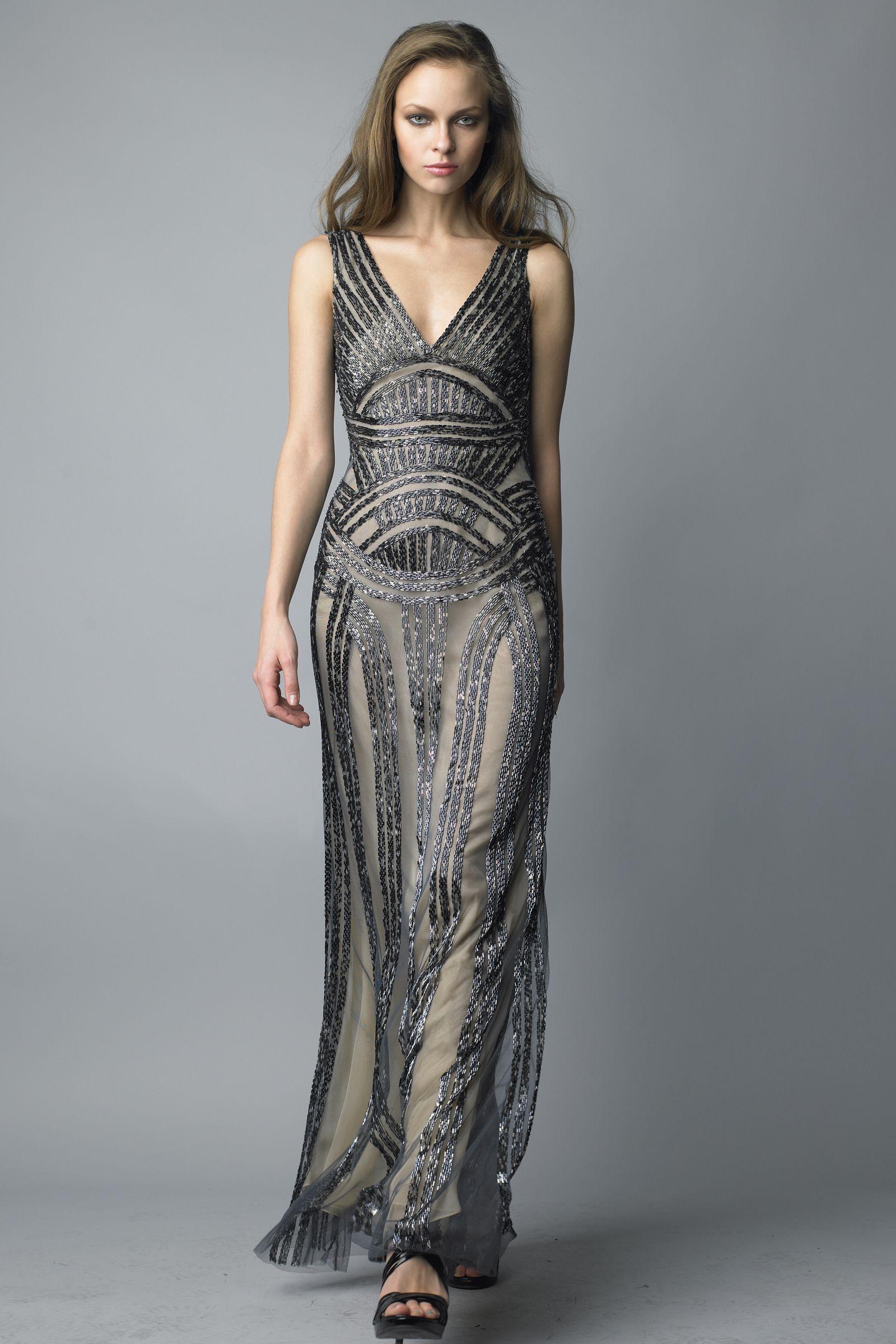 Art Deco Evening Gowns | Art Deco Dress Basix black label - d6077lss ...