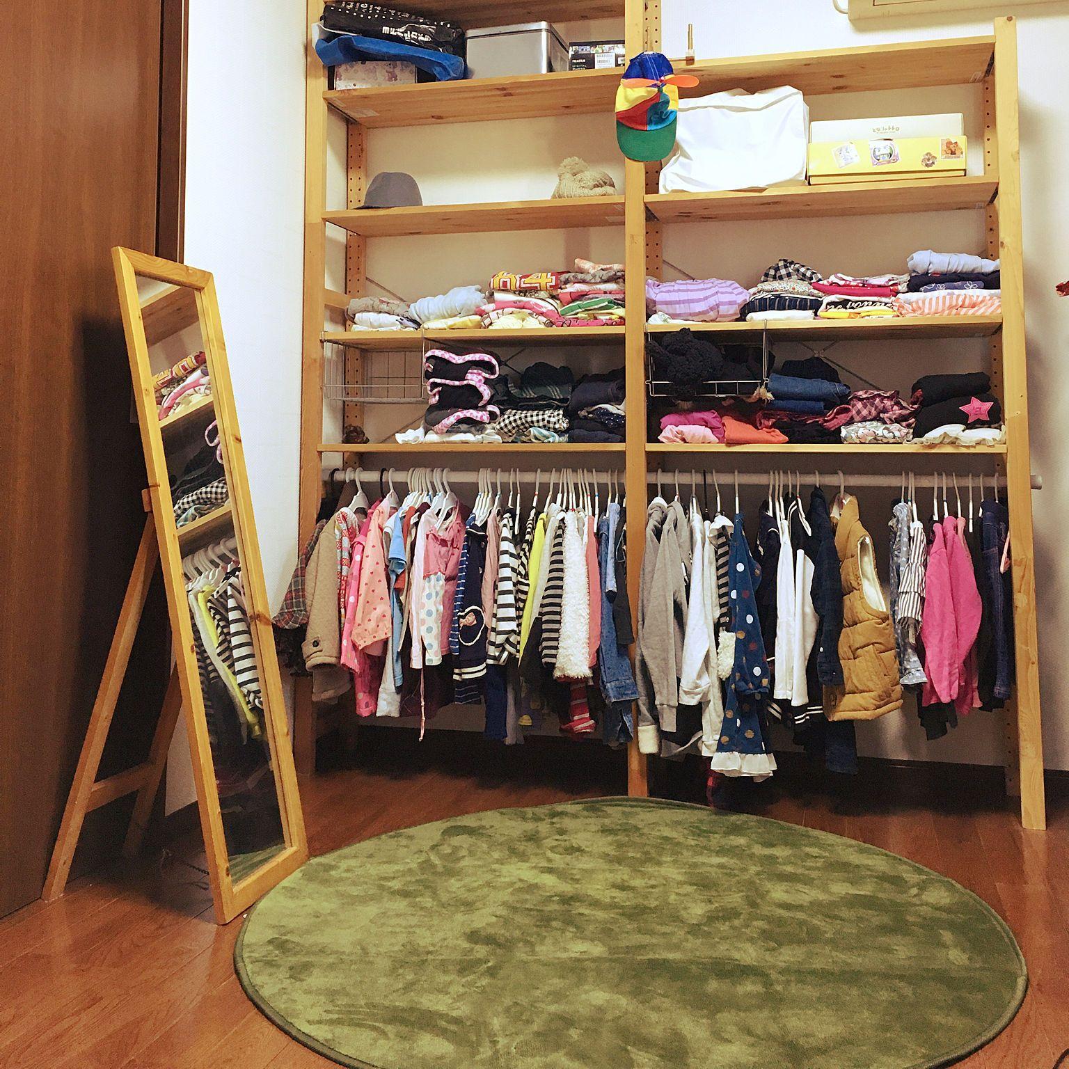 1b7233209d 部屋全体/IKEA/鏡/姿見/子供服収納/UNIQLO...などのインテリア実例 ...