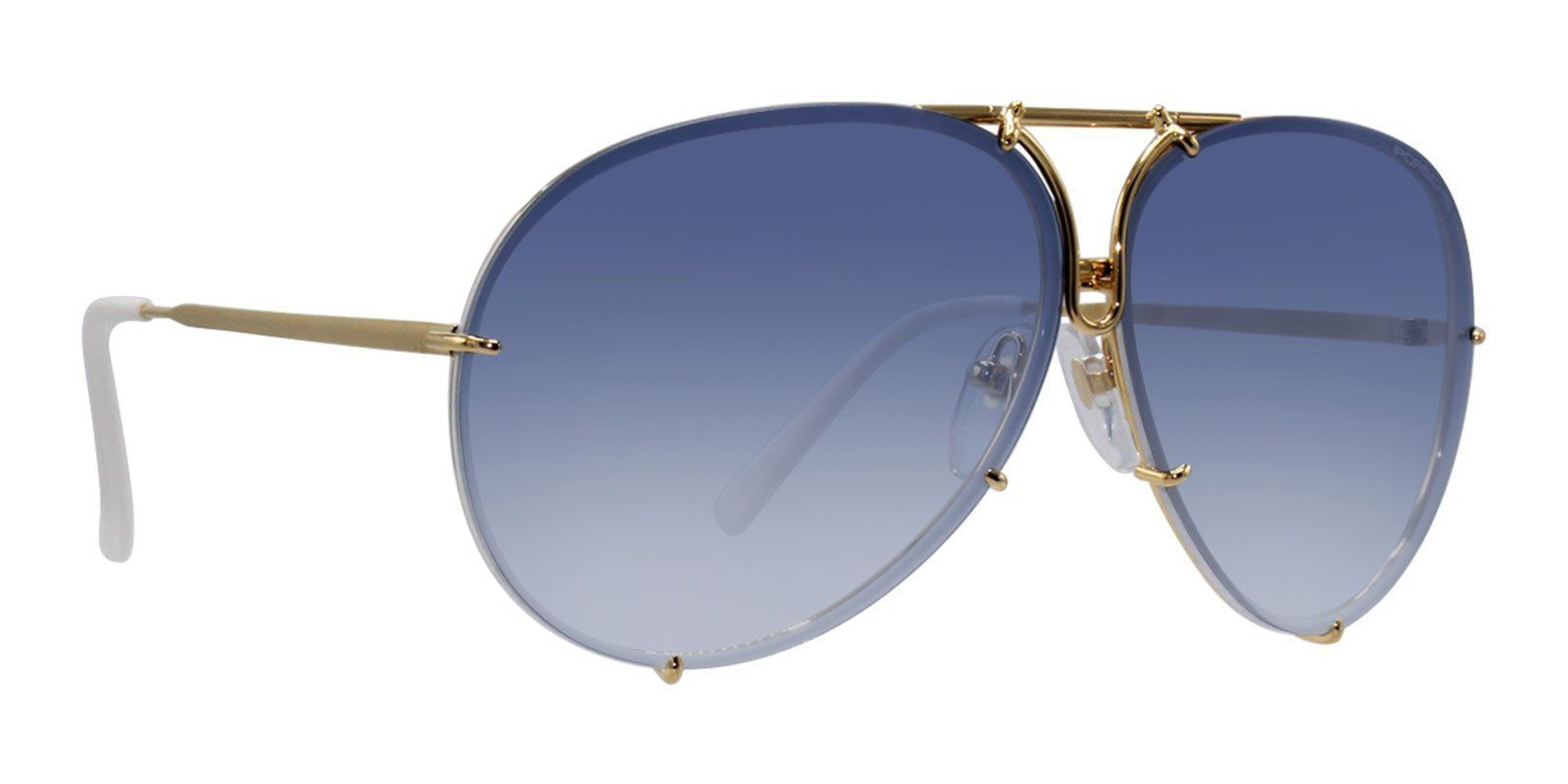 39066b5f5b Porsche Design - P8478 Gold - Blue-sunglasses-Designer Eyes ...
