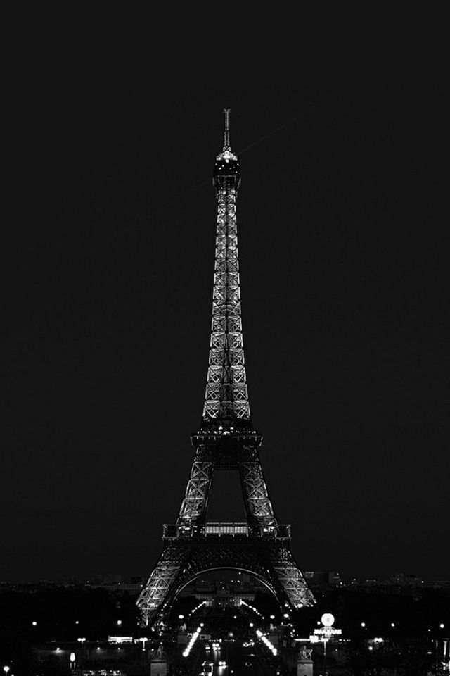 Paris Night France City Dark Eiffel Tower Iphone 4s Wallpapers