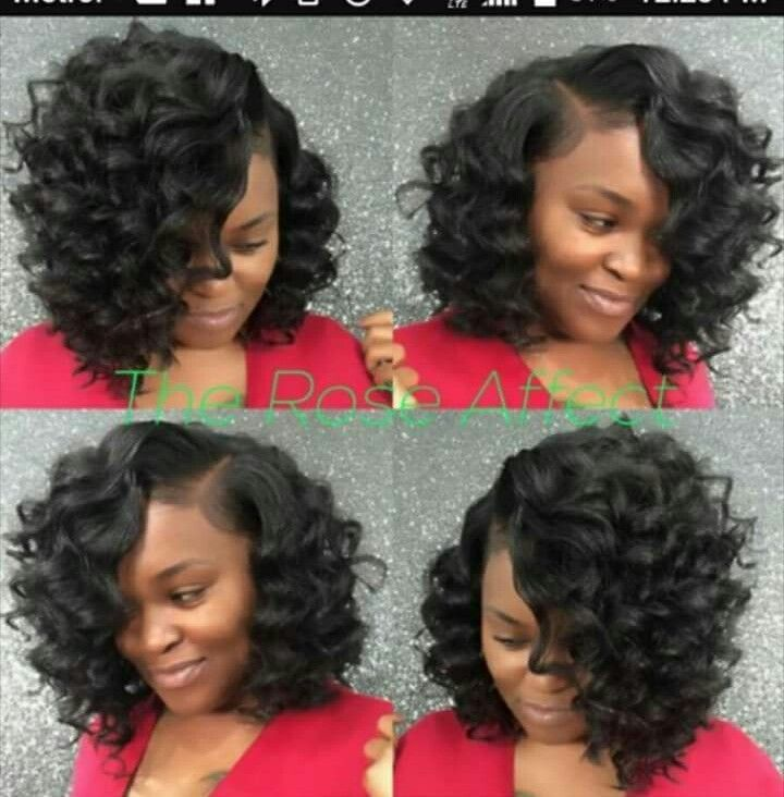 Medium Length Curly Sew In Curly Weave Hairstyles Sew In Bob Hairstyles Sew In Hairstyles