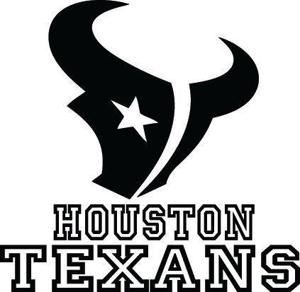 Houston Texans Football Logo Name Custom Vinyl By VinylGrafix - Custom vinyl decals houston