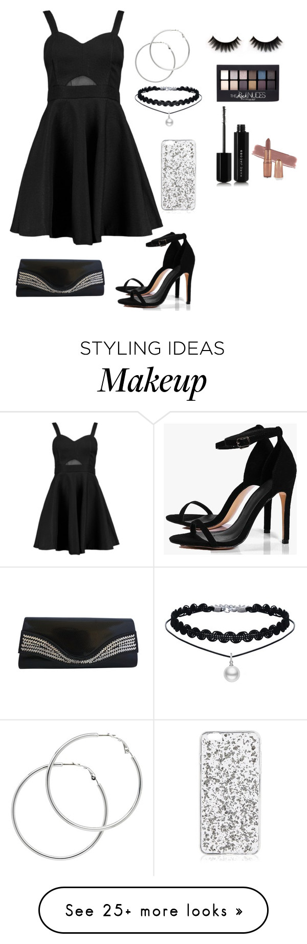"""""""Untitled #92"""" by lindylicous on Polyvore featuring Boohoo, Melissa Odabash, Maybelline and Marc Jacobs"""