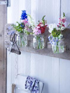 vasen llampen und besteckhalter diy ideen mit gl sern basteln pinterest glas vase und. Black Bedroom Furniture Sets. Home Design Ideas