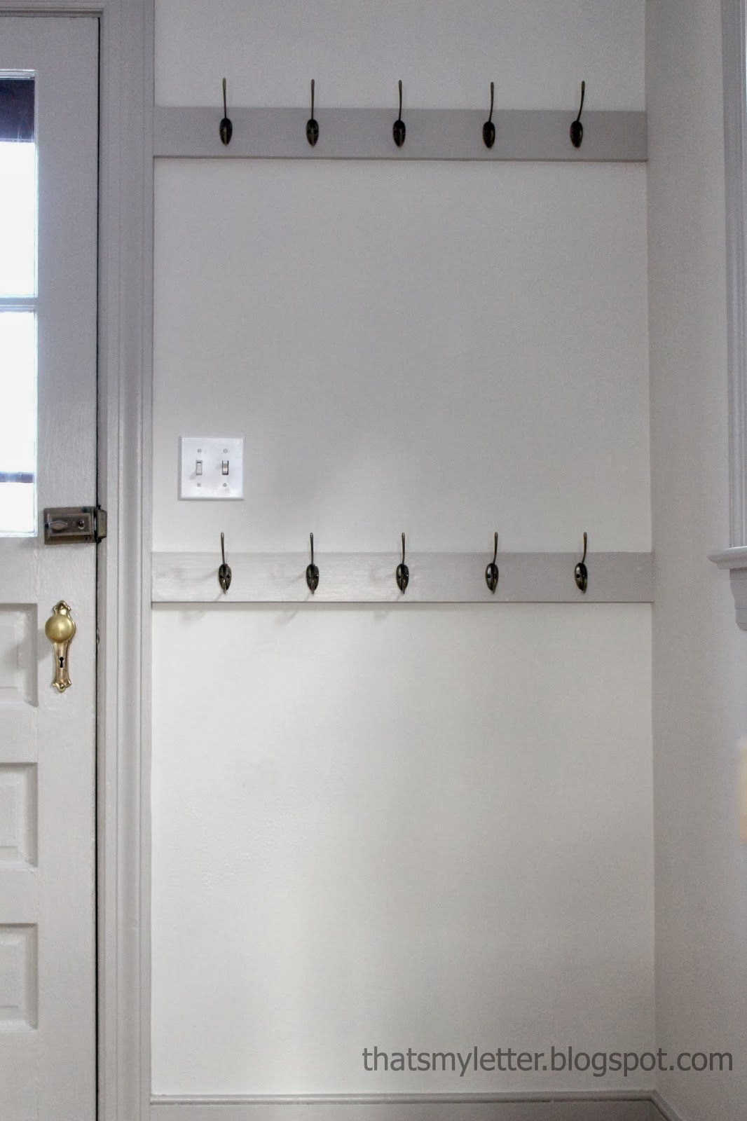 """M"""" is for Mudroom Hooks  Entryway decor, Mudroom wall hooks"""