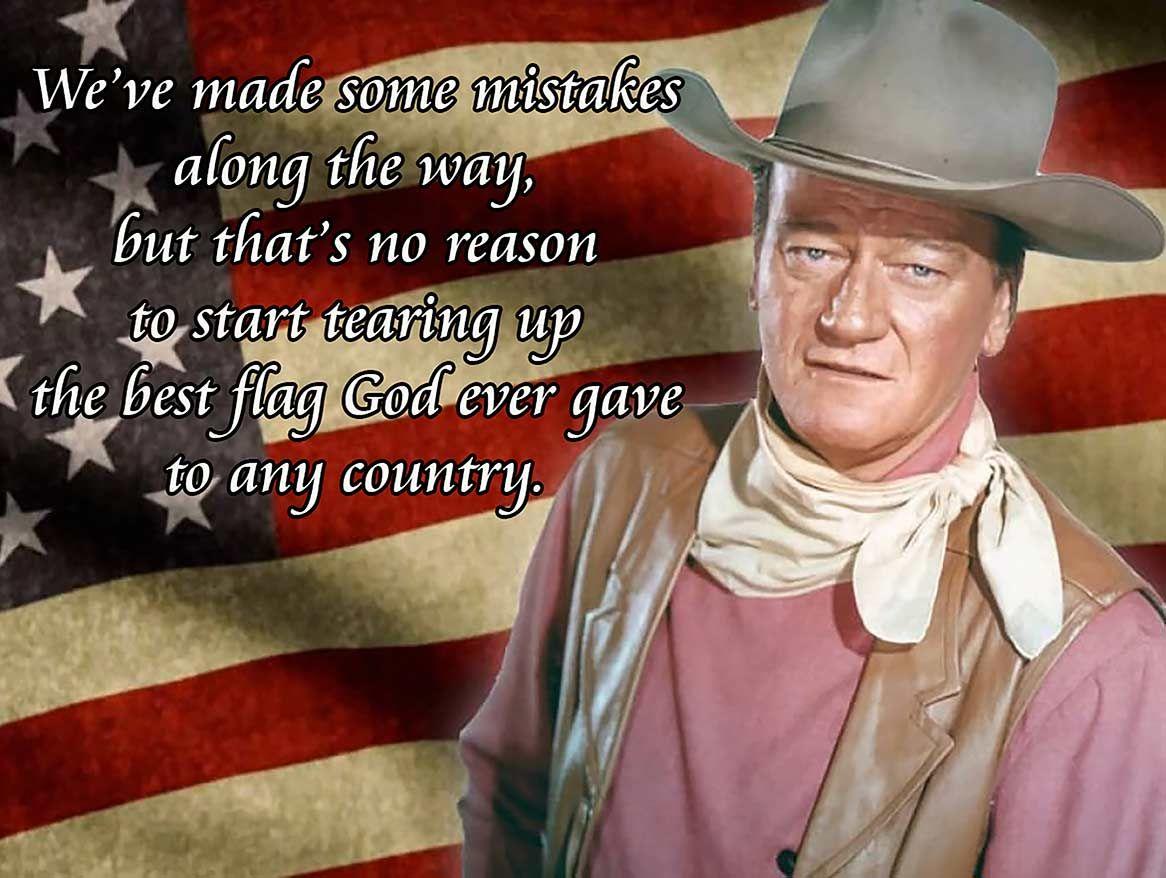 John Wayne Best Flag Quote Metal Sign John Wayne Quotes John Wayne Quotes Wisdom Flag Quote