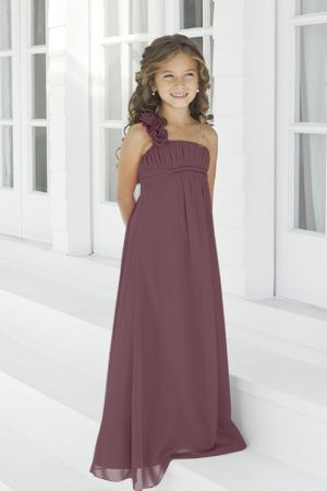 Charmeuse Pleated,Straps Style 44 Junior Bridesmaid Dress by Alexia Designs