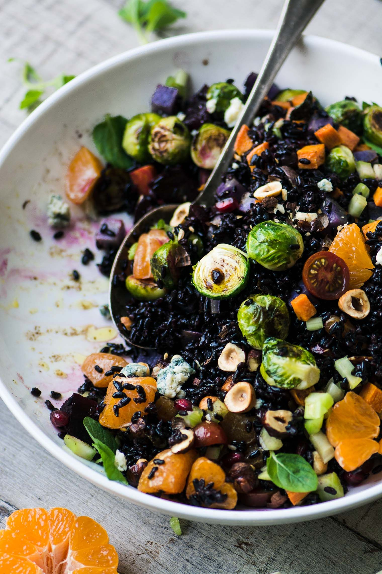 Black Rice Salad With Roasted Vegetables The View From Great Island Black Rice Salad Rice Salad Recipes Autumn Salad Recipes