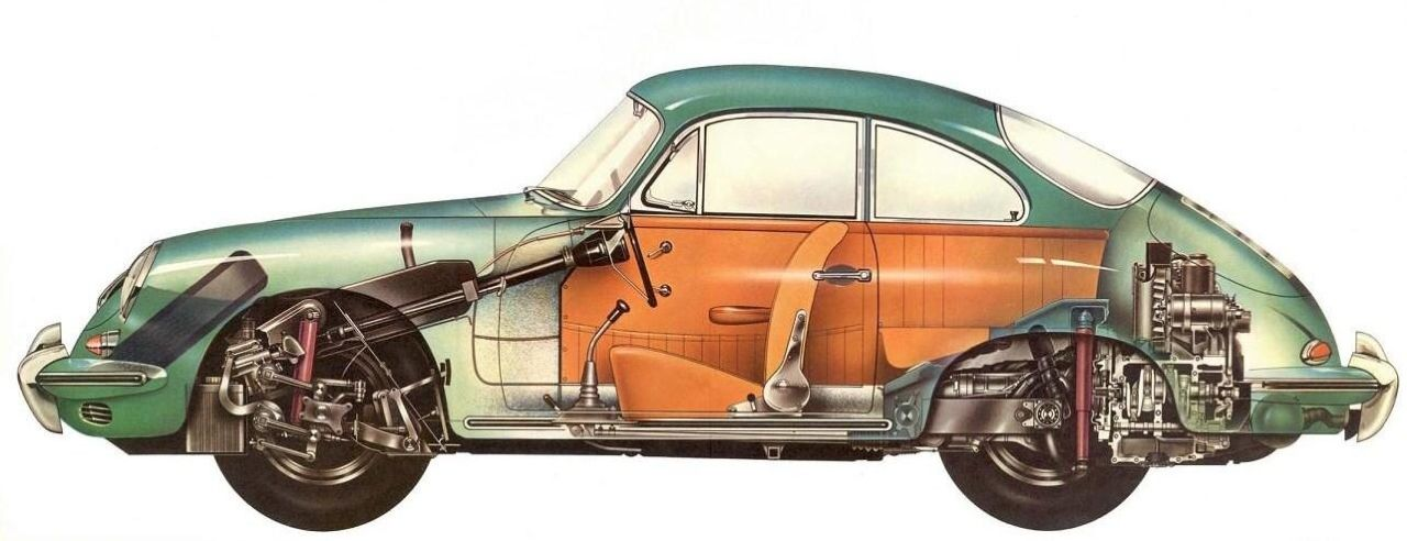 Porsche 356 Cutaway