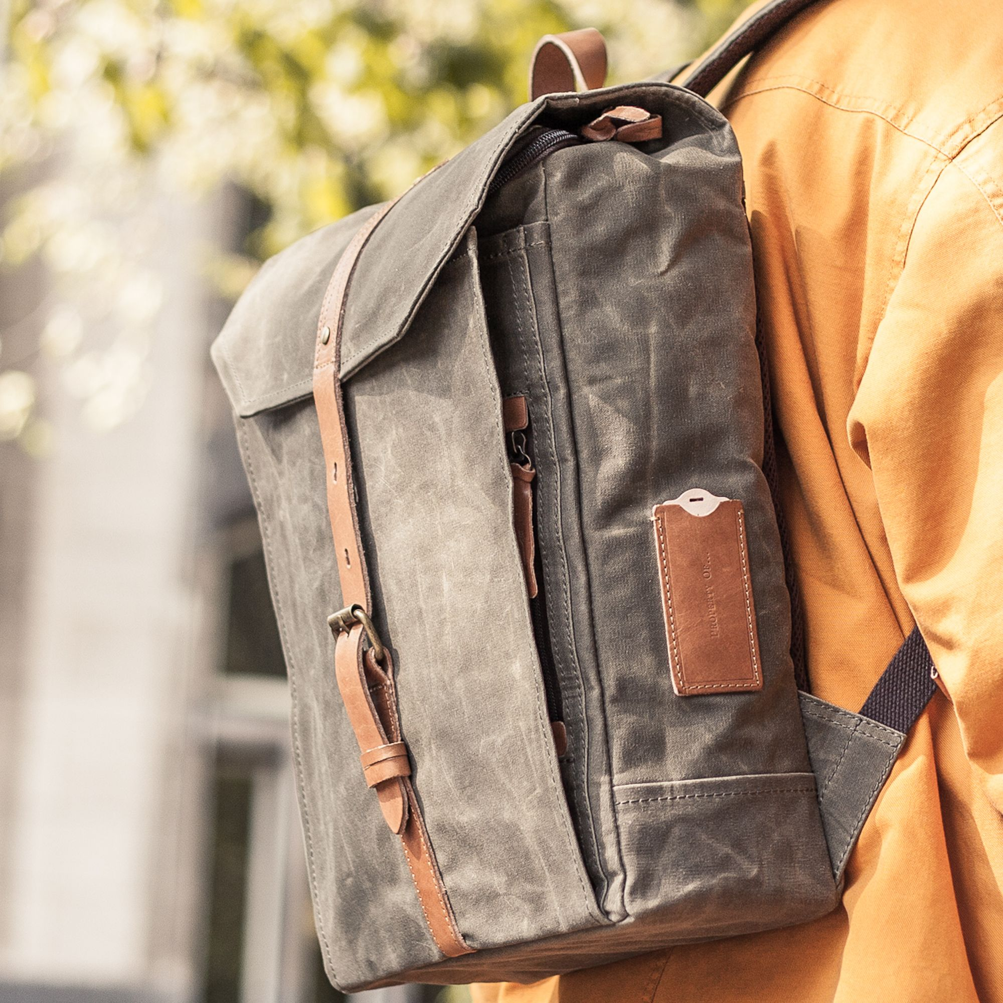 "HECTOR BACKPACK / 299€ / WAXED CANVAS / MEN'S BAG / Go in style with this well designed backpack. On the inside you will find a padded compartment for a 15"" laptop. With multiple storage and organizational pockets all your stuff will be sorted. The Hector Backpack is available in a waxed coated canvas."
